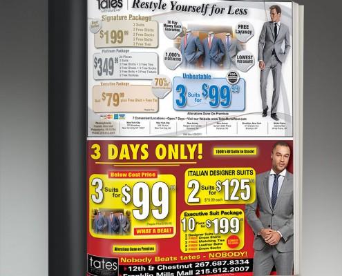 retail advertisements graphic design services