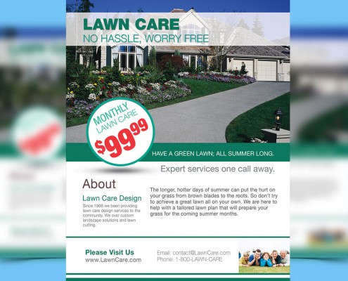 direct mail lawn care flyer