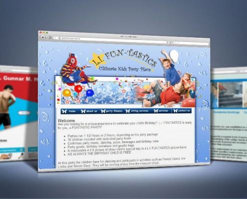 Web Design for Children Party Place