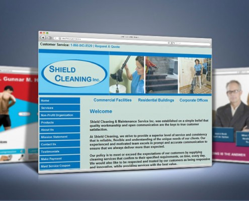 Web Design for Cleaning Service