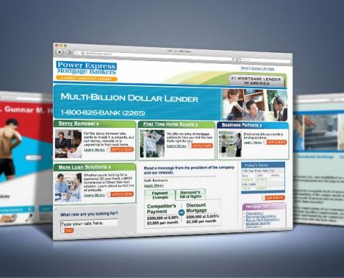 Web Design for Mortgage Lender